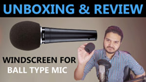 Shure A58WS-BLK Unboxing Review : Microphone Foam Cover Windscreen | Ball Type